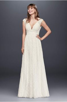 Take our wedding dress quiz to find the perfect wedding dress for you! Pick your style, neckline and body type to discover stunning bridal gown options from David's Bridal! Backyard Wedding Dresses, Bohemian Wedding Dresses, Perfect Wedding Dress, Bridal Wedding Dresses, Bridal Lace, Lace Wedding, Wedding Bells, Elegant Wedding, Davids Bridal