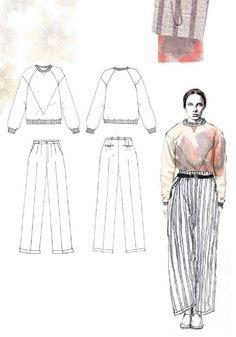 Fashion Sketchbook - fashion illustration & flat drawings; fashion portfolio // Emma Berry: