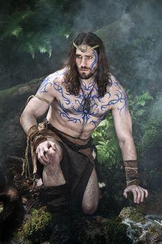 Creative Photography - Pagan Warrior, body paint, woad