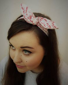 No animal says summer quite like the flamingo, so brighten up your wardrobe with this tropical accessory. Whether you wear your bow as bunny ears or a rose knot, this headband is adaptable and wearable no matter the occasion! Wire Headband, Flamingo, Knot, Ears, Print Patterns, Bunny, Tropical, Classroom, Craft Ideas