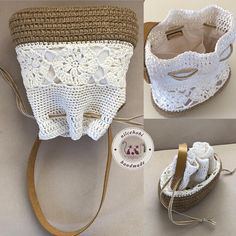Tabata Knitted Bags Crochet Bikini Straw Bag Crochet Purses Knitting And Crocheting Tricot Over Knee Socks Shop Class Crochet Tote, Crochet Handbags, Crochet Purses, Free Crochet, Knit Crochet, Drawstring Bag Diy, Over Knee Socks, Knitted Bags, Jute