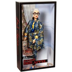 The Barbie Styled by Iris Apfel doll honors one of the most dynamic personalities in the world of fashion, textiles, and interior design. Explore our Barbie Styled by Iris Apfel doll today! Barbie Shop, Barbie And Ken, Barbie Toys, Brocade Suits, Looks Instagram, Beautiful Barbie Dolls, Fashion Painting, Barbie Collector, Barbie Friends