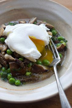 Mushroom Ragout with Farm Eggs & Toast // Jeremy Sewall via D*S