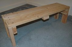 Wooden Weightlifting Bench Do-It-Yourself Project-add a board across the front to hide 2x4's