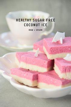 Healthy Sugar Free Coconut Ice