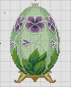 Cross Stitch Faberge Egg