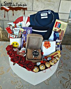 61 trendy Ideas for gifts baskets for men man bouquet – Gift Basket Ideas Birthday Gifts For Boyfriend Diy, Creative Gifts For Boyfriend, Cute Birthday Gift, Birthday Gift Baskets, Cute Valentines Day Gifts, Boyfriend Anniversary Gifts, Boyfriend Gifts, Birthday Diy, Diy Valentine