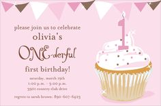 One-derful Girl Birthday Invitations