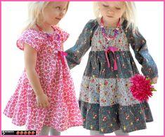 Astra campesino patrón de vestido para niñas    Tamaños: 12months-12 años    Vestido características: Cómodo con todo con estilo campesino vestido de