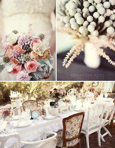 Mariage romantique déco de table