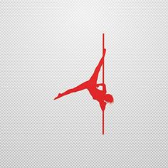 Sticker Pole Dancer Permanent Sailboat Speciality Lasting Skate Acti Red (9 X 5.36 In) - Brought to you by Avarsha.com