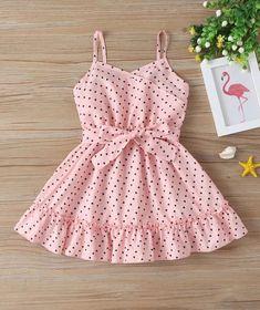 Little Girl Belted Pink Cami Dress Baby Girl Frocks, Frocks For Girls, Toddler Girl Dresses, Little Girl Dresses, Toddler Girls, Kids Summer Dresses, Girls Dresses Sewing, Baby Girls, Girls Frock Design