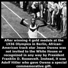 Jesse Owens running in Berlin Olympics, 1936