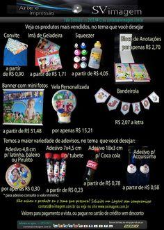 Lembrancinhas de aniversário mais vendidas,  www.svimagem.com.br