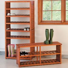 Eucalyptus Shoe Rack  - Storage Ideas for Mud Rooms