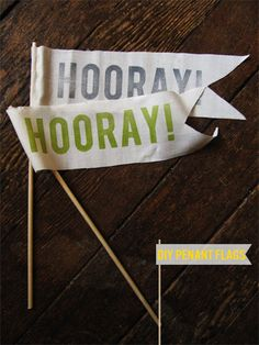 DIY Hooray Flags | Squirrelly Minds
