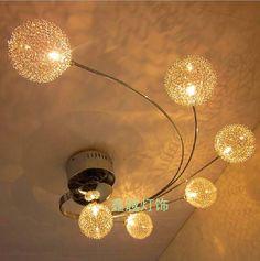 96.75$  Buy now - http://alizpv.worldwells.pw/go.php?t=32356401824 - Modern LED Glass Ceiling Light Aluminium Abajur Ceiling Lamp Bedroom Lamparas De Techo G4 Living Room Home Lighting Fixtures 96.75$