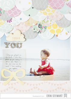 Sweet and Simple blog - American Crafts NSD layout - create a scallop challenge