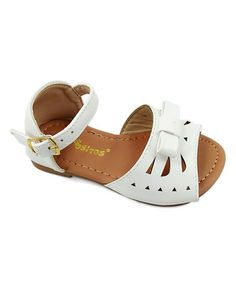 Take a look at this Ositos Shoes White Cutout Sandal today! Oasis Dress, Flats, Sandals, Little Girls, Girly Girls, Looking For Women, Mary Janes, Toddler Girl, Baby Shoes