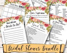 12 Bridal Shower Games Bundle. Games Bundle, Bridal Shower Bundle. Floral Bridal Shower Games Package. Fun Bridal Shower Activities