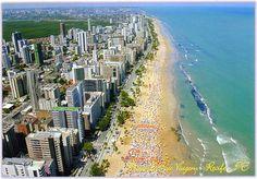 """* Recife, Pernambuco. Brasil * Bairro de Boa Viagem. """"Praia de Boa Viagem""""."""