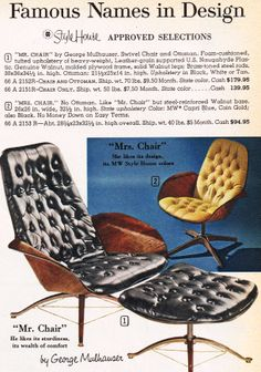 """Mr & Mrs"" lounge chairs"