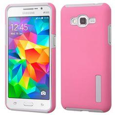MYBAT Dual Pro Samsung Galaxy Grand Prime Case - Pink/Gray Samsung Grand, Galaxy Note 5, Pink Grey, Gray, Mobile App, Mobile Phones, Samsung Galaxy, Phone Cases, Iphone