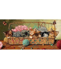 Dimensions Gold Collection Counted Cross-Stitch Kit Kitty LitterDimensions Gold Collection Counted Cross-Stitch Kit Kitty Litter,