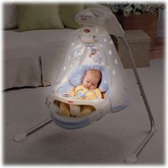 Fisher-Price Papasan Cradle Swing: 16 songs and six soothing speeds. Works in swing or cradle mode. $118 #Baby_Swing #Fisher_Price