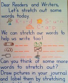 I like how many skill are practiced in this message. letter sounds, spelling, writing, drawing, thinking...