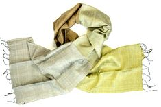 Fair trade scarf made from raw silk from Cambodia.
