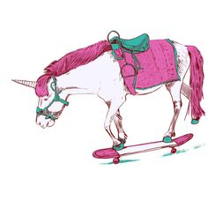 unicorn on skateboard - Google Search
