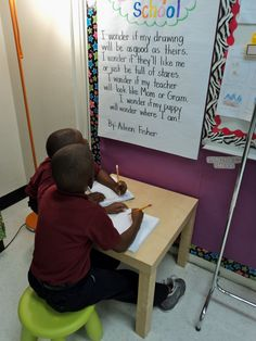 Poetry station!