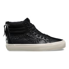3104d85ef5 Leather SK8-Hi Zip Weave DX High Top Vans