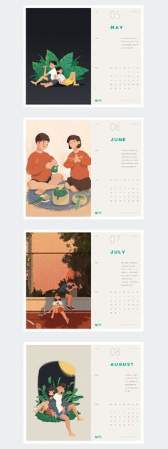 插图日历/Illustrations Calendar on Behance