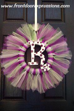 Tulle Wreaths on Etsy, $40.00
