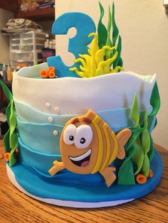 Bubble Guppies Cake For Three Year Old Boy