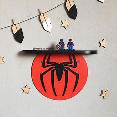 Wooden shelf Spider-Man