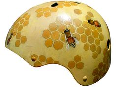 honeycomb helmet; Unique & Fashionable Hand-Painted Bicycle Helmets by Belle Helmets. Sold at Follow the Honey as well!!