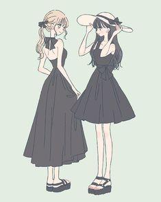 Fashion Illustration Poses Anime Girls New Ideas Fashion Illustration Poses, Illustration Mode, Girl Illustrations, Cute Art Styles, Cartoon Art Styles, Manga Girl, Anime Art Girl, Anime Girls, Look Fashion
