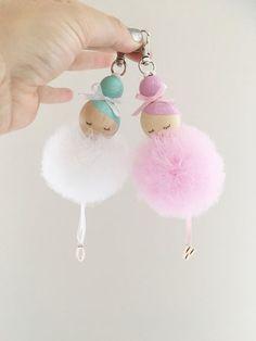 Süße Idee ❤ Anhänger für die Handtasche basteln l Ballerina bag charm
