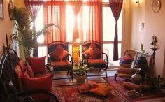 red and orange home decor
