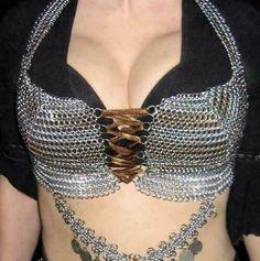 Aluminum Chainmail Beautifull Bra Draped Bra Crop Tops #bras #bra #sets (ebay link) Wire Wrapped Jewelry, Wire Jewelry, Jewellery, Wire Earrings, Handmade Jewelry, Chainmail Top, Estilo Madison Beer, Body Chain Jewelry, Leotards