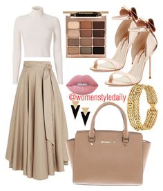 """Untitled #11"" by ezimodili on Polyvore featuring TIBI, A.L.C., Sophia Webster, Michael Kors, Chanel, Stila, Lime Crime and Yves Saint Laurent"