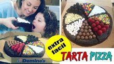TARTA en forma de PIZZA * Tartas fáciles y originales ** ¡Hoy no hay cole! - YouTube
