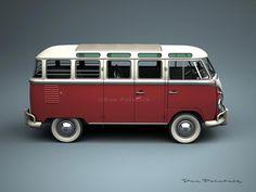 A Garagem Digital de Dan Palatnik | The Digital Garage Project: 1959 VW 23 Window Bus