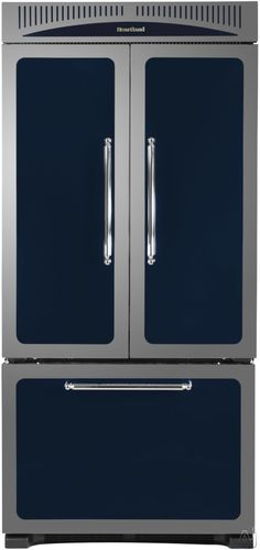 Counter-Depth French Door Refrigerator 4 Adjustable Glass Shelves Built-in Filtered Water Dispenser Ice Maker and Energy Star in Cranberry Red Slide Out Shelves, Door Shelves, Glass Shelves, Counter Depth Refrigerator, French Door Refrigerator, Heartland Appliances, Door Rack, Storage Drawers, French Doors