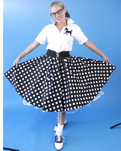 Can-Can petticoats; Cinch Belts; Bobby Socks; Big Circular Skirts and Poodle Appliques!  Those WERE the Happy Days! Love the shoes, from the nifty 50's shop. x