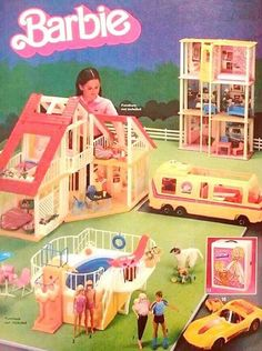 The best days were spent playing Barbies! 1980s Barbie, Play Barbie, Barbie Doll House, Barbie Dream House, Vintage Barbie, Vintage Toys, Barbie Dolls, Barbie Stuff, Childhood Toys