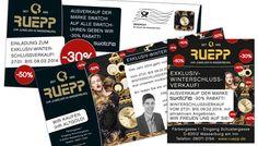 Gestaltung diverser Werbemittel für den Winterschlussverkauf